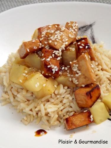 Tofu caramélisé au sésame et son céleri2